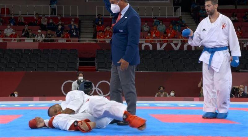 Fiese Verletzung fünf Sekunden vor Schluss: Drama um Karatekämpfer Horne