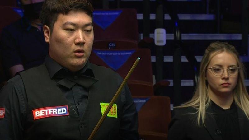 Fluke oder Absicht? Yan locht Rot per Double über den ganzen Tisch