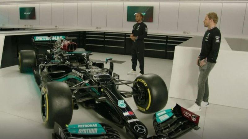 Hamilton und Bottas stellen den neuen Silberpfeil vor