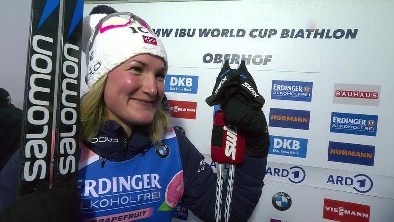 Oberhof:  7.5 km Women - Interview Roeiseland