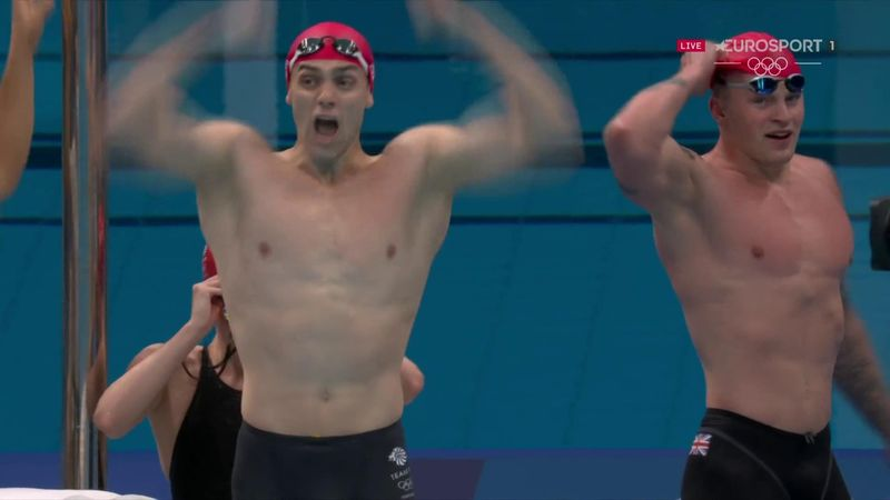 'Wow! He's literally flying!' - Guy's 'incredible' swim that inspired GB to relay glory
