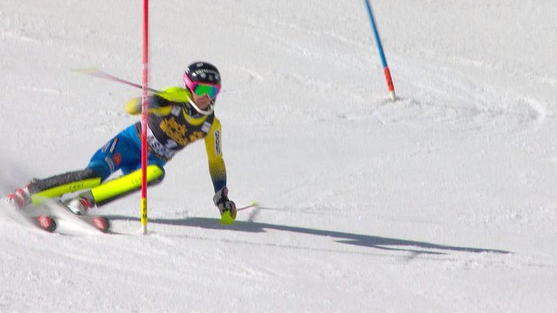 Aspen slalom: Frida Hansdotter's first run