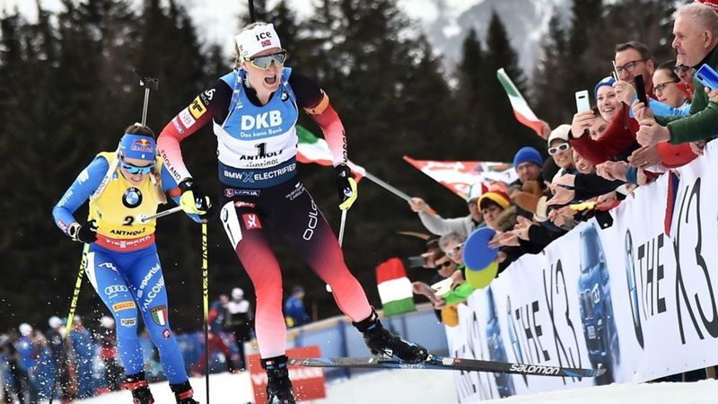WK Biatlon | Goud Roiseland op massastart na impossante comeback