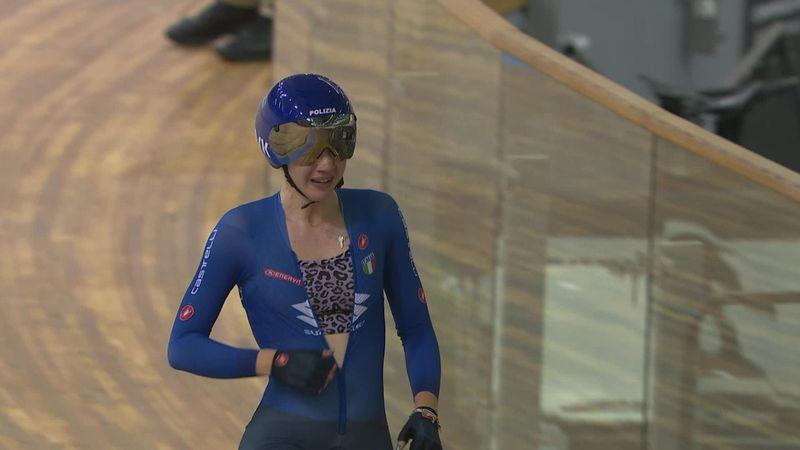 Martina Fidanza, oro en scratch femenino; la española Calvo acaba undécima
