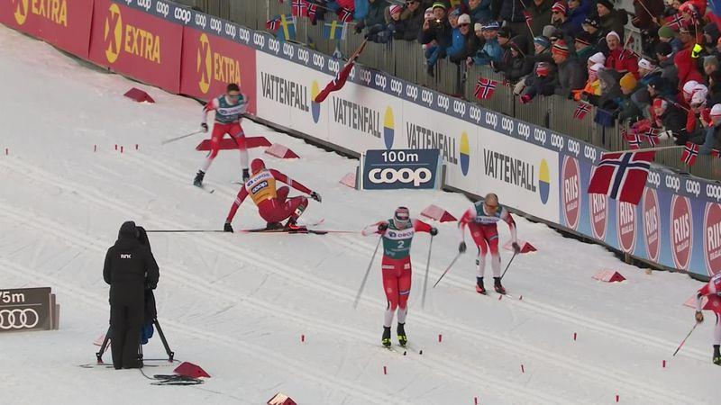 Bolshunov crasht im Halbfinale auf der Zielgeraden