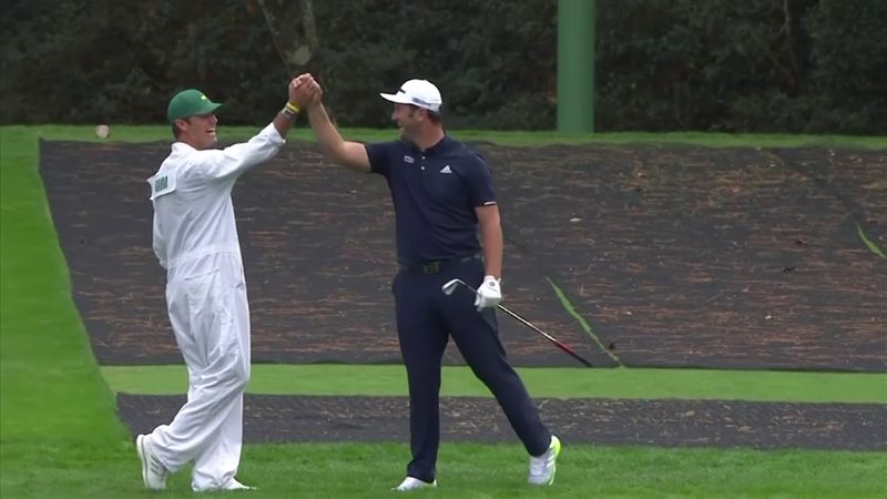 Watch Rahm's incredible Masters hole-in-one as ball skips over lake