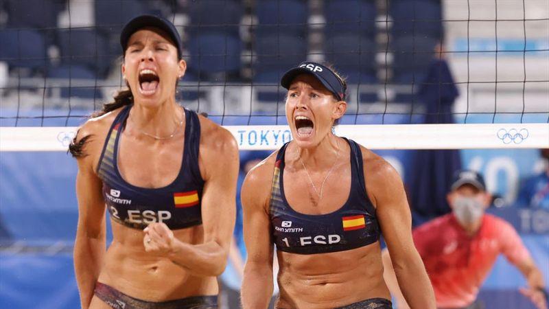 Vóley Playa (F)   Resumen España-Países Bajos: Lili y Elsa debutan con victoria y remontada (2-1)