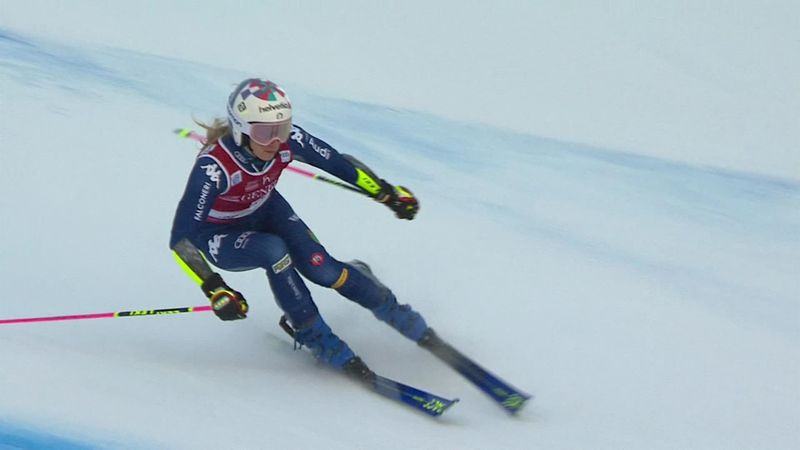 Brilliant Bassino takes her third win of the season in Giant Slalom