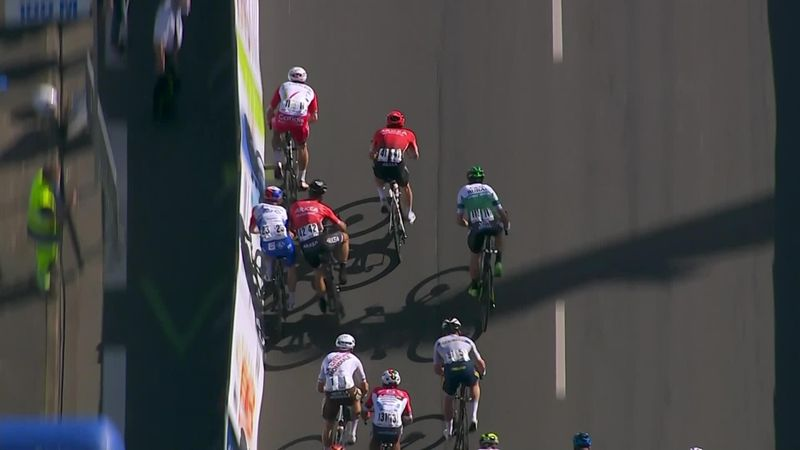 Highlights as 'totally out of order' Bouhanni disqualified for scary near-miss