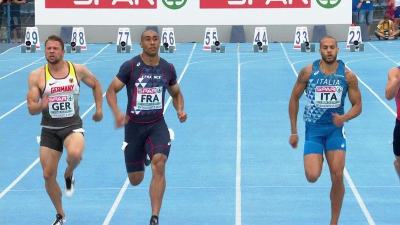 Jacobs secondo alle spalle di Vicaut nei 100 m degli Europei a Squadre