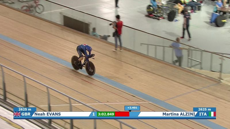 European Track Championships: Neah Evans becomes double European champion following pursuit gold