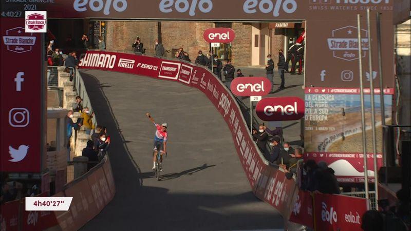 'Legendary' - Van der Poel seals 'remarkable' Strade Bianche win