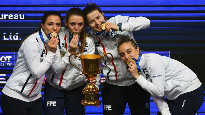 Frankreichs Goldfechterinnen: Das Säbel-Team stellt sich vor