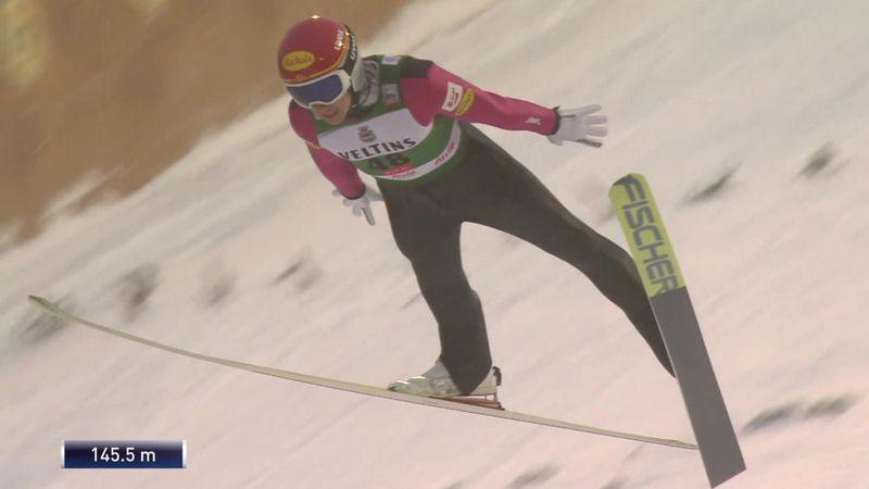 World Cup Ruka | Noordse combinatie: skischansspringen - Mario Seidl gaat aan de leiding