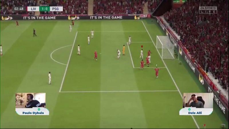 Дибала сделал Алли в благотворительном матче в FIFA 20. Но оба выбрали не свои клубы