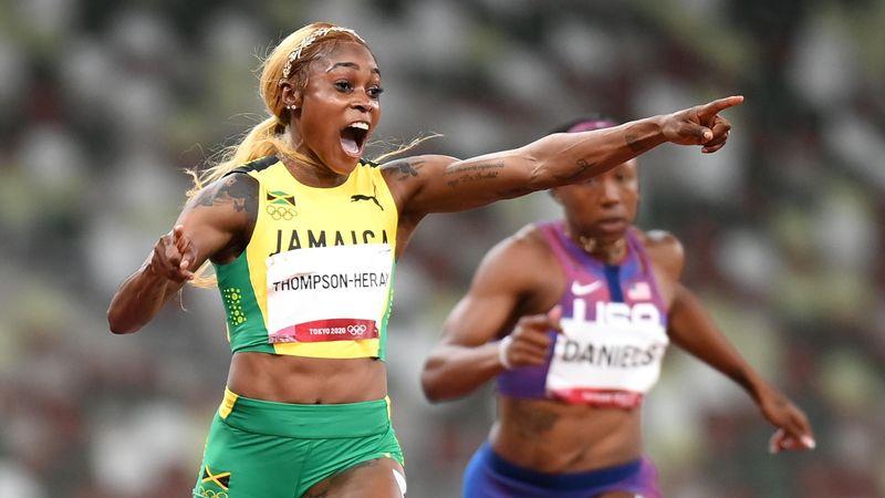 Atletismo | Elaine Thompson lidera el triplete jamaicano en 100 con récord olímpico