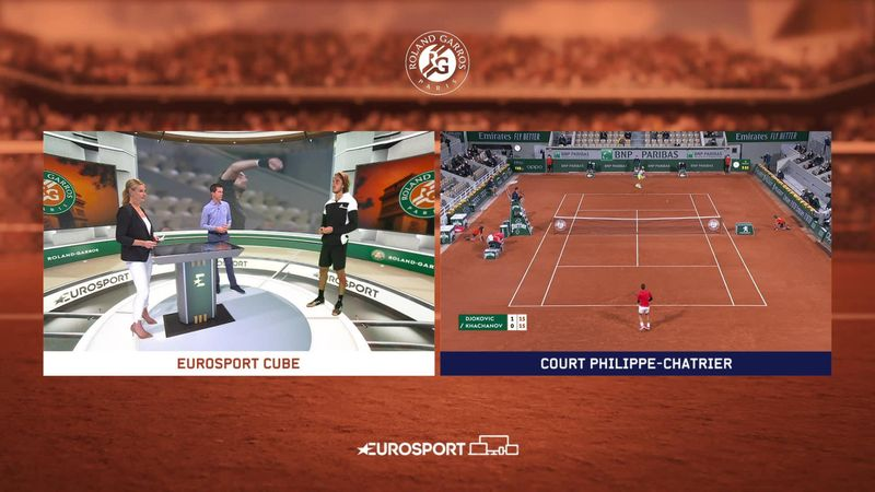 Roland-Garros: Day 9 - itw Tsitsipas