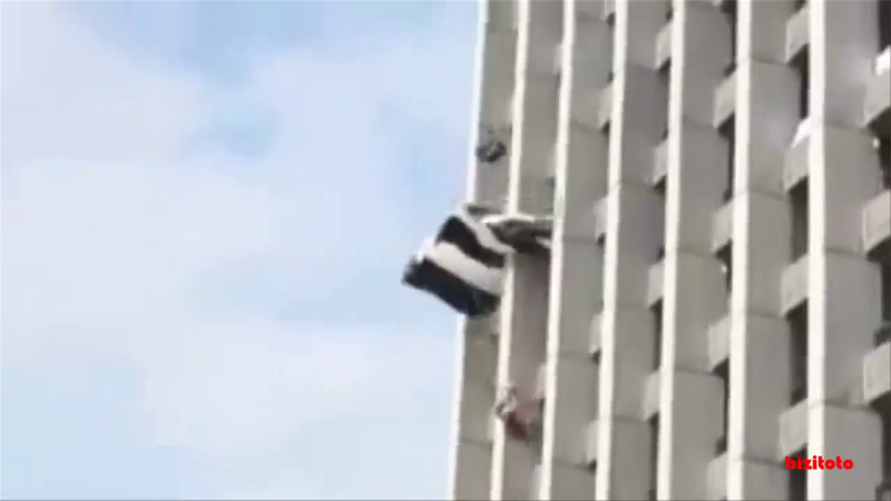 Lucky escape as base jump goes horribly wrong