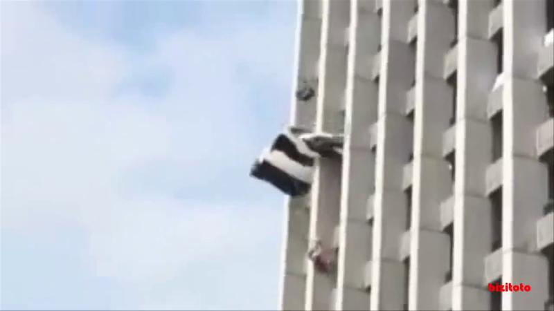 Su salto pudo acabar en tragedia