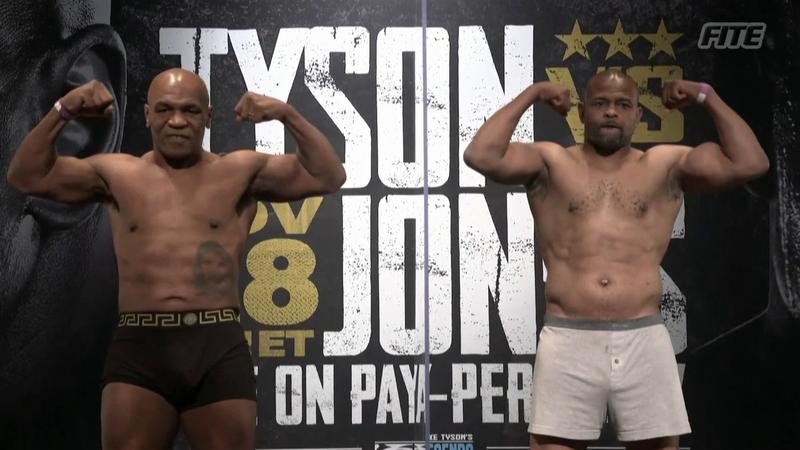 Tyson vs Jones: la cerimonia del peso