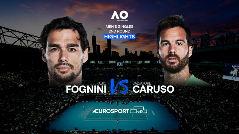 Fabio Fognini-Salvatore Caruso, vídeo resumen del partido
