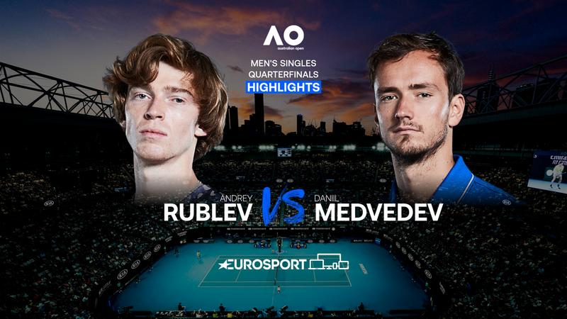 Highlights   Andrey Rublev - Daniil Medvedev