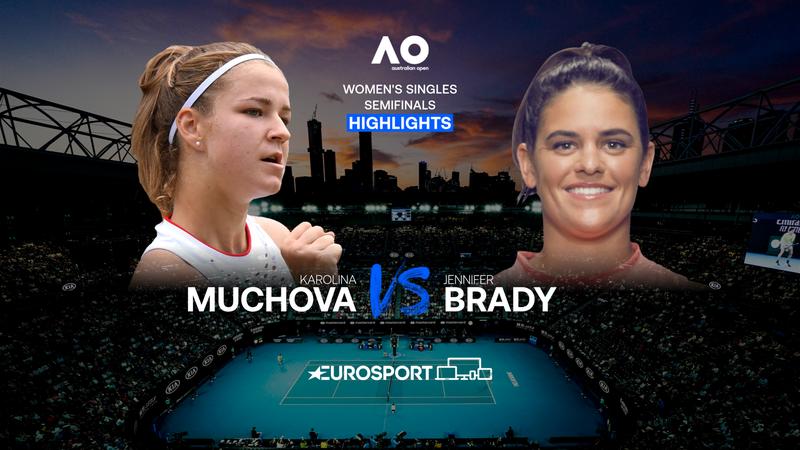Highlights: Jennifer Brady er finaleklar efter tæt kamp mod Karolina Muchova