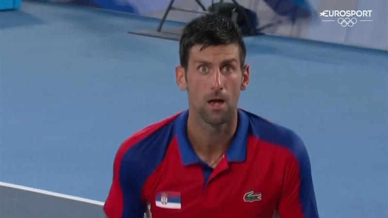 Desquiciado Djokovic: así reaccionó tras perder seis juegos consecutivos