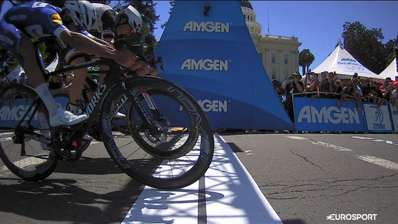 Gaviria claims final Tour of California stage in sensational photo finish