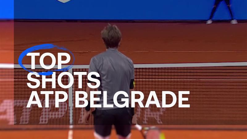 Удары Джоковича и Карацева – в топ-5 лучших турнира в Белграде