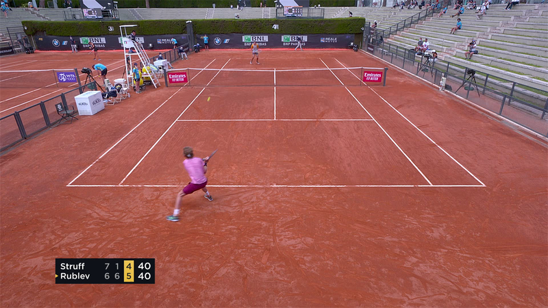 Третий сет против Штруффа – это урок тенниса в исполнении Рублева