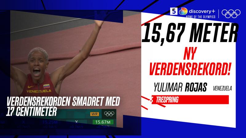 15,67 meter! Yulimar Rojas smadrer 26 år gammel verdensrekord