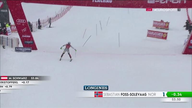 Foss-Solevaag come un treno: davanti nello slalom