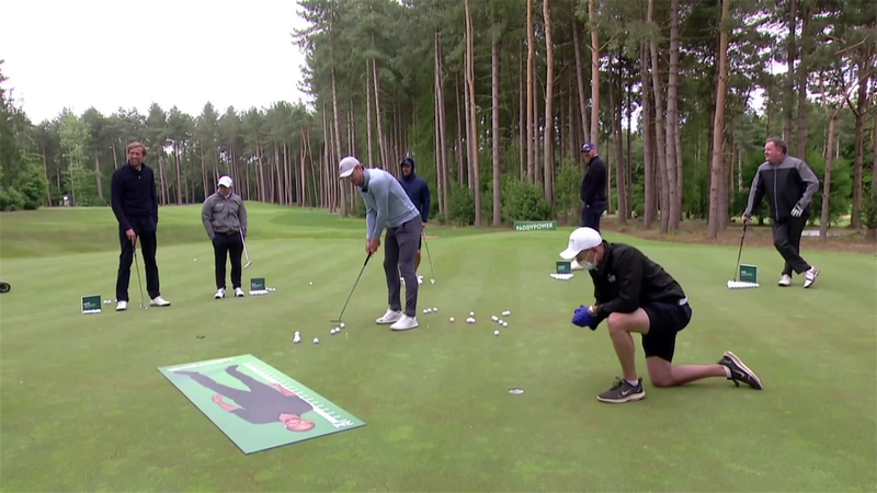 Harry Kane fails at 'socially-distant' putting world record, but Paul McGinley smashes it