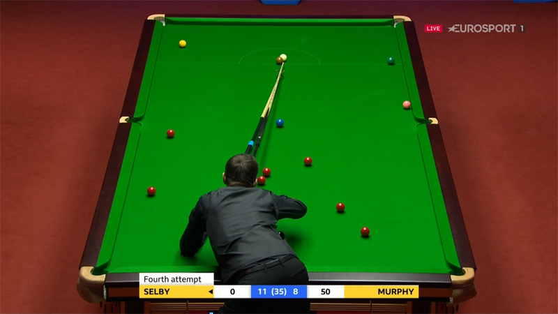 Should Selby have flagged this dodgy re-spot in his favour?