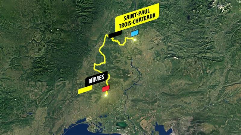 Stage 12 profile: Saint-Paul-Trois-Châteaux - Nîmes