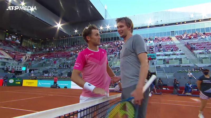 Каспер Рууд – Александр Бублик. ATP Мадрид – лучшие моменты матча