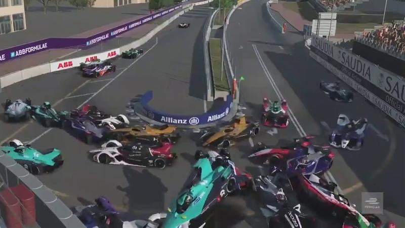 Chaos ensues as Formula E race start brings MASSIVE crash