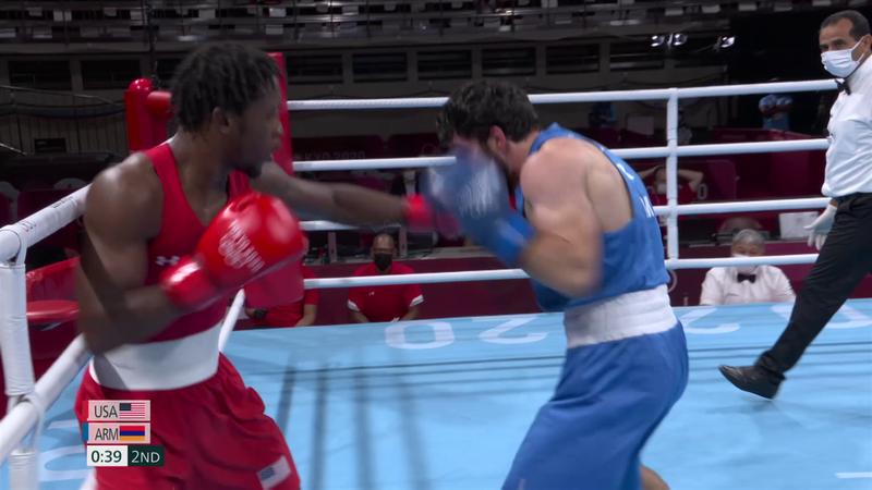 Tokyo 2020 - United States mot Armenia - Boxing Men's Light – OL-høydepunkter
