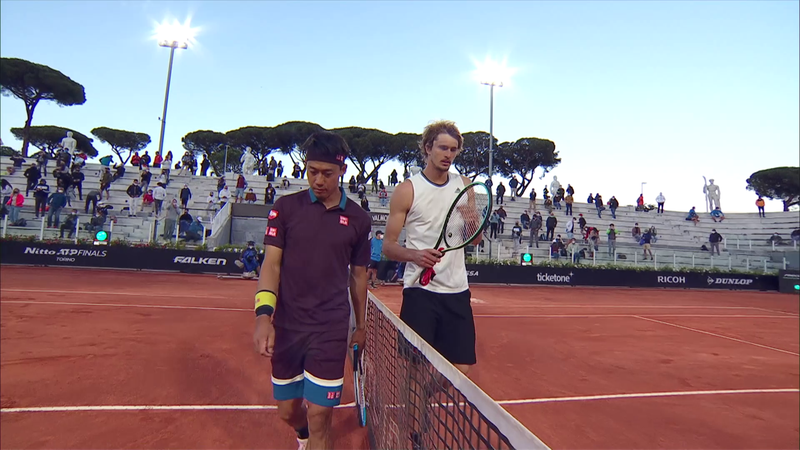 Александр Зверев – Кэй Нисикори. ATP Рим – обзор матча