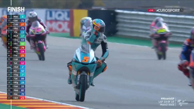 Moto3 Alcaniz | Masia wint 2e GP Aragon