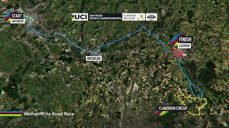 Rad-WM: Die Strecke des Frauen-Rennens in Flandern