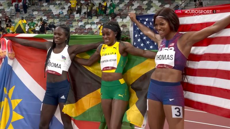 Jocurile Olimpice: Elaine Thompson-Herah a reușit dubla istorică: victorie în probele de 100m & 200m