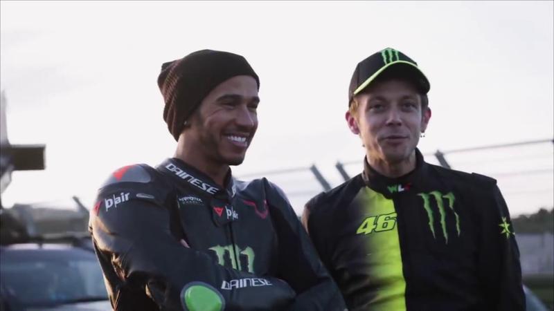¡Qué pasada! Las imágenes nunca vistas del duelo Hamilton-Rossi en Cheste