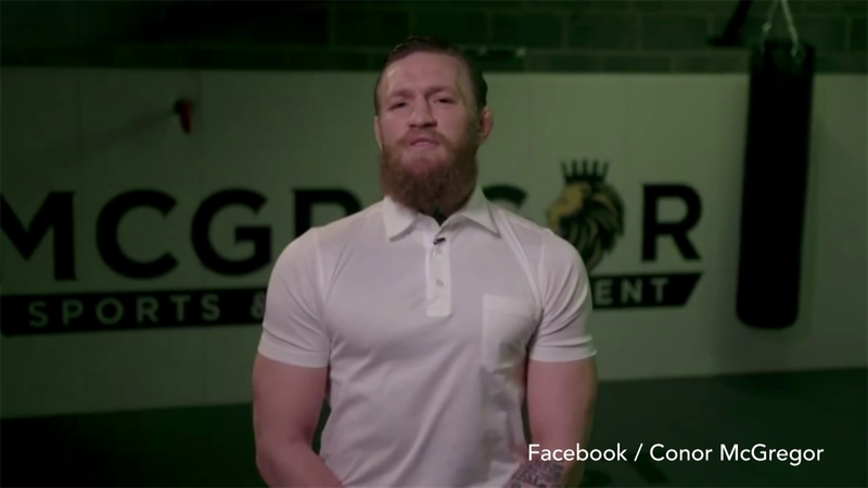Former UFC champion Conor McGregor makes plea to Ireland
