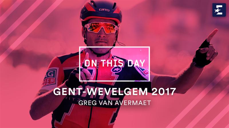 Vandaag in 2017 | Van Avermaet klopt Keukeleire in Gent-Wevelgem