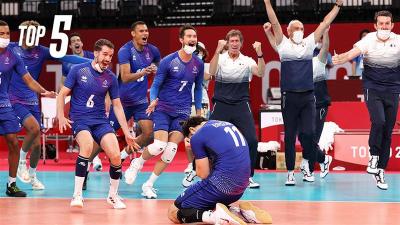 Des volleyeurs magiques, Le bronze en vitesse, le basket et le handball assurent : le top 5 de Mardi