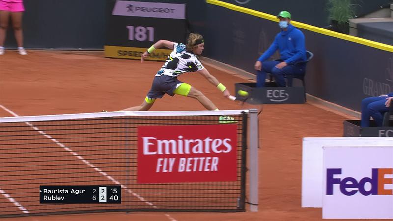 ATP Hamburg: Punct superb câștigat de Rublev în partida din sferturi cu Bautista Agut