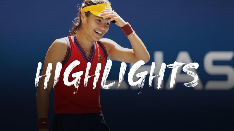 Raducanu - Bencic - US Open Highlights