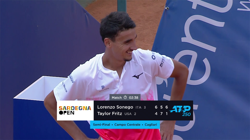 ATP Cagliari: Sonego - Fritz elődöntő, összefoglaló